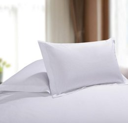 Wholesale Fine Knitting - White Pillow Case Plain Natural Pillowslip Satin Like Cotton Fabric Cushion Cover Fine Machining High Quality Hot Selling 8 2fy A R