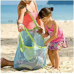 Wholesale Children S Tool - Wholesale- New Portable Kids Toy Storage Bag outdoor Children Beach Toys Fast Accept Bag camping Tool Practical lazy bag Organizer Bags