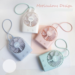 Wholesale Small Plastic Gears - Wholesale 2017 new creative small fan mini rechargeable usb3 stalls with LED lights fan