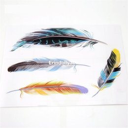 Wholesale Glue For Car Interior - Hot Sale Time-limited Car Covers Styling Feathers Stickers For Bmw VW Exterior Or Interior Decal Scratch Sticker The Whole Body
