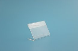 Wholesale Acrylic Retail Displays - 6*4CM 1.3mm Acrylic Price Tag Name Card Table Advertisement Display Stand Holder Retail Display label frame