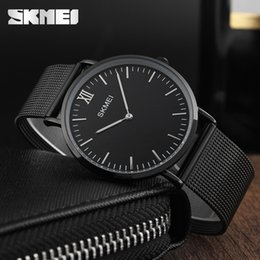 Ultra mince Montres Hommes Quartz En Acier Inoxydable Montres Hommes SKMEI Marque Horloge Homme Étanche Mode Casual Montres-Bracelets ? partir de fabricateur