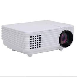Tarjeta de video de puerto online-Al por mayor-Nueva marca Picot Mini AV LED Digital Video Game Projector multimedia nativo 800 * 480 proyector con HDMI AV USB SD TV tarjeta de puertos