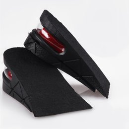 Wholesale Heel Insoles Foot Care - Unisex 2-Layer Air Cushion Heel Insoles Increase 5 cm Height Taller PVC Insole Shock Pad Feet Care
