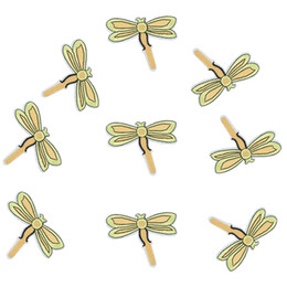 Wholesale Iron Dragonfly - 10pcs Dragonfly badges patches for clothing iron embroidered patch applique iron sew on patch sewing accessories for DIY clothes