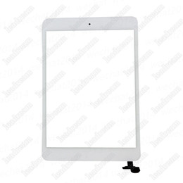Wholesale Ipad Mini Touch Screen - 50PCS Touch Screen Glasses Digitizer with IC Connector Home Buton for iPad Mini Black and White