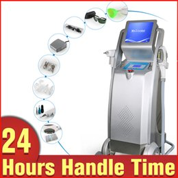 Wholesale E Light Ipl Rf - Salon Use 3in1 IPL RF Painless Permanent Hair Removal Q-Switched ND Yag Laser Tattoo Removal Skin Rejuvenation E-light Beauty Equipment