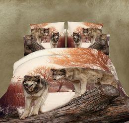Wholesale Cartoon Animal Pillowcases - 3D Bedding Set Bed Sheets Duvet Cover Pillowcase Polyester Animal Scenic Designer Home Textile Fashion Hot Sale