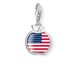 Wholesale American Flag Pendant Free - Charm accessories diy pendant American flag necklace wholesale Handmade Chain HipHop Style Necklace Gold Plating Free Shipping