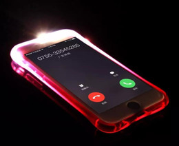Wholesale Phone Case Lg L5 - For ZTE A310 A610 A315 L5 LG X Cam X Power X Max Style Call Lightning Flash LED Light Up Phone Case transparent Soft Shockproof Cover