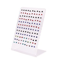 Wholesale Transparent Stud Earrings - 120 Holes Transparent Jewelry Display Earrings Ear Stud Holder Organizer Women Jewellery Display Rack Stands Showcase #46677