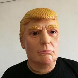 2019 mascaras do presidente 2016 EUA Presidente Candidato Mr Trump Máscara De Látex máscara de Halloween Látex Máscara Facial Billionaire Presidencial Donald Trump Máscara De Látex desconto mascaras do presidente