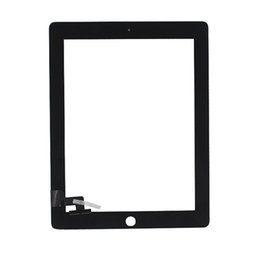 Wholesale Ipad Adhesive Black - Grade A +++ Touch Screen Digitizer For iPad 2 3 4 Replacement Black White Assembly With Home Button & Adhesive