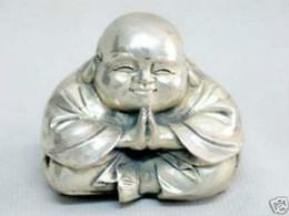 Wholesale Buddha Brass Statue - Rare excellent Tibet Silver Buddha statue