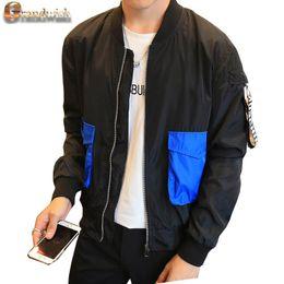 Wholesale Wholesale Zipper Jackets - Wholesale- Grandwish 2017 New Men's Bomber Jacket Patches Big Pocket Men's Bomber Jacket Pilot Jacket Coat Men Plus Size 4XL,PA543