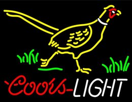 """Wholesale Coors Light Signs New - New 20""""x16"""" Coors Light Pheasant Neon Sign Man Cave Signs Sports Bar Pub Beer Neon Lights Lamp Glass Neon Light"""