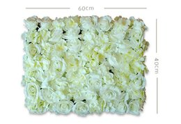 Wholesale Christmas Wall Backdrops - flower wall Silk rose tracery wall encryption floral background artificial flowers creative wedding stage props free shopping WT048