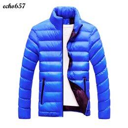 Wholesale Wholesale Men Down Winter Coats - Wholesale- Fashion Men High Quality Coat Echo657 Hot Sale Men Winter Warm Slim Fit Thick Bubble Coat Casual Parka Outerwear Dec 1