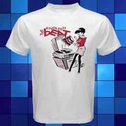 Wholesale Beat Man - The English Beat Logo Group Rude Girl Ska 2 Tone White T-Shirt Size S To 3XL T-shirt High Quality