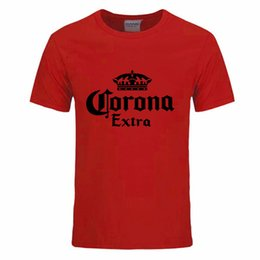 Wholesale Corona Black - Fashion Beer Corona Extra Band Print T-Shirt Men Fitness Summer Cotton Short Sleeve Crossfit Tshirts Free shipping DIY-0060D