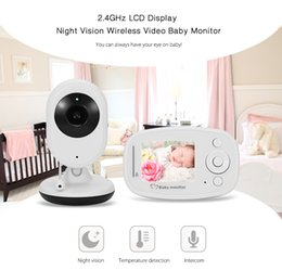 Wholesale Long Range Audio Monitor - Baby Monitor Infant 2.4GHz 3.2'' LCD Display Wireles Babysitter Digital Video Baby Camera Audio NightVision Baby monitor B