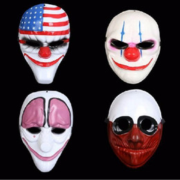 Wholesale Masquerade Wolf Masks - Halloween Mask Doday Game Payday 2 Mask Heist Dallas Wolf Chains Hoxton Cosplay Halloween Horror Chainsaw Clown mask Masquerade