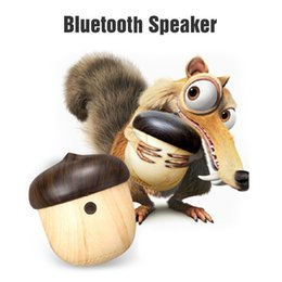 Wholesale Tiny Wireless Bluetooth - Tiny speaker portable Stylish Creative Mini Wireless Bluetooth Nut Speaker with Sling for iPhone Android xiaomi huawei