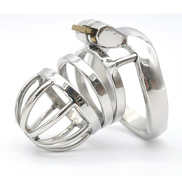 Wholesale Steel Chastity Cage Sounding - Male Chastity Device Stainless steel Chastity cage Lock Latest Design A275
