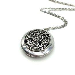 Wholesale Celtic Pendant Silver Knot - Wholesale-Exclusive Design Antique Silver Celtics Knot Cross Pendant Celti Locket Diffuser Necklace Essential Oil Locket