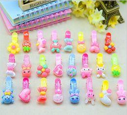 Wholesale Headdress Decor - 50Pcs  Lot Cartoon Candy Color Bunny Princess Kids Party Costume Headdress Hairpin Clip Birthday Decor Girl Take Home Favor