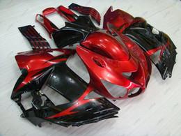zx14 carenados rojos Rebajas ABS Fairing ZZR 1400 2011 Fairing Kits para Kawasaki Zx14r 06 07 Red Black Bodywork Zx14 Zx-14r 2006 2006 - 2011