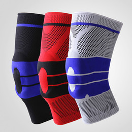 1 pc Nouveau Hommes et Femmes de Basket-Ball Football Silicone Running Fitness Printemps Alpinisme Sports de Plein Air Genou Brace Tricot ? partir de fabricateur