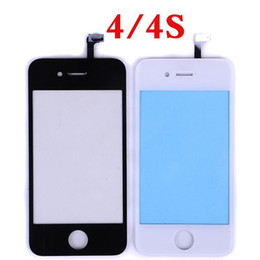 Wholesale iphone 4s front panel - Black White Front Glass Lens + Touch Screen Digitizer For iPhone 6 plus 5 5S 4 4S Outer Touch Panel Screen Replacement + Tools