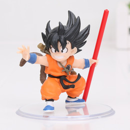 Wholesale toy son goku - Dragon Ball Z Styling Child Son Gokou Goku Childhood ver. PVC Figure Collectible Model Toy 8cm