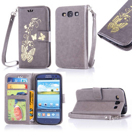 Wholesale Galaxy S3 Wallet Phone Cases - For Samsung Galaxy S3 S 3 GalaxyS3 GT-I9300 GT-I9300i TPU Back Box Flip Phone Leather Cover for Galaxy SIII Neo I9300 I9300i bag