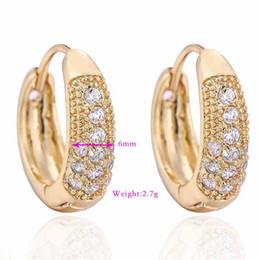Top qualità 18K oro giallo placcato Clear Crystal Cluster Hoop orecchini anti-allergia moda donna gioielli per regalo del partito da