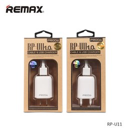 Wholesale Outlet Chinese - Remax Smart Charger Set Proda Charing Power Adapter Travel Socket Outlet 1A Plug USB Cable Chargers For Android V8 Micro With Retail Package