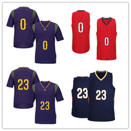 Wholesale Red Ads - 2017 Wholesale Men's #0 DeMarcus Cousins Basketball Jersey Adult Embroidery Logos and Stitched #23 AD Jersey Fast free shipping