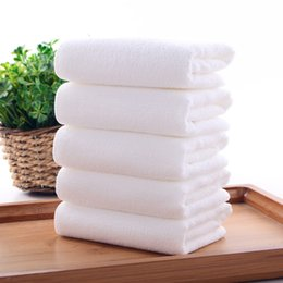 Wholesale Cotton Polyester Wash Cloths - Superfine Fiber White Towel Washcloths 30*70cm Multi-purpose High Absorbent Soft Wash Cloth for Face Hand Hair