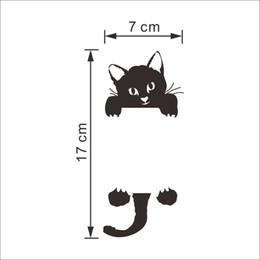 Wholesale Live Rats - DIY Funny Cute Black Cat Dog Rat Mouse Animls Switch Decal Wall Stickers Home Decals Bedroom Kids Room Light ParlorDecor