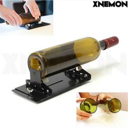 máquinas cortadoras de plástico Rebajas Máquina del cortador de la botella de cristal de XNEMON para las botellas de la cerveza del vino Cortadores de la herramienta de corte de la botella con la polea plástica, rueda del cortador YG8