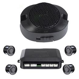 Wholesale Sensor System Sound Alert - LED BIBIBI Car Parking Sensor 4 Sensors Monitor Auto Backup Radar Detector System Kit Sound Alert Alarm Indicator Free DHL