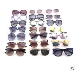 Wholesale Label Frame - Orange Label Vintage Classic Women Sunglasses Square Metal Frame Mirror Polarized Lenses Elegant Beauty Pink Glasses Mixed color