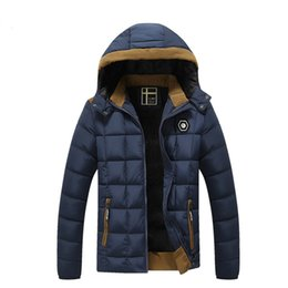Wholesale Mens Short Coat Khaki - Korean Mens winter jackets Men's cotton parks Cotton quilted winter coat Tops corrective warm thickening Outer clothing coat brand clothing