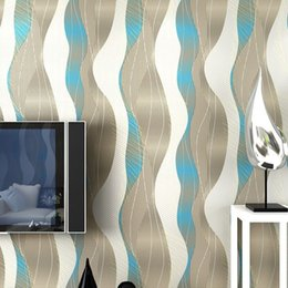 Wholesale Light Meter Film - Modern minimalist 3D stereoscopic film and TV wall stripe wallpaper bedroom living room TV backdrop 3D curved wallpaper