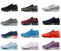 Wholesale Real True - 2018 New Rainbow VaporMax 2018 BE TRUE Men Woman Shock Running Shoes For Real Quality Fashion Men Casual Vapor Maxes Sports Black Sneakers