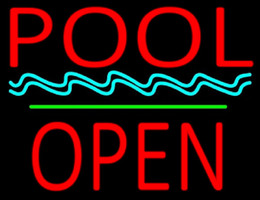 "Wholesale Swim Neon - Pool Block Open Neon Sign Real Glass Tube Handmade Customized Advertisement Swimming Game Room Center Display Neon Signs 17""X14"""