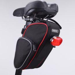 Wholesale Bike Bag Saddle Large - Free Shipping ROSWHEEL Cycling Bike Bicycle Commuting Saddle Bag Tail Bag Large Capacity gib