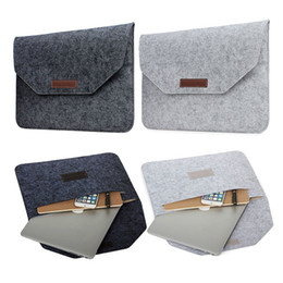 Wholesale Wool Felt China - Slim Wool Felt For Macbook Pro Retina 13 15 Sleeve Bag Notebook Flip Laptop Cover For Macbook Air 11 12 13 Handle Case