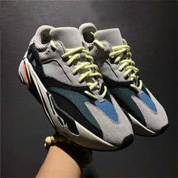 Wholesale Blue Reflective Fabric - 2018 Wave Runner 700 Kanye West Glow in Dark Reflective line 2017 New Running shoes size 36-46 With Boost bottom and 3M material With Box
